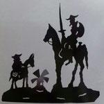Lampara Silueta Quijote Gigante 120 X 120 cm $ 1620