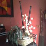 Canasta decorada con Esferas Luz $ 790.00