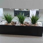 Jardinera Fibra de Vidrio con Follaje artificial