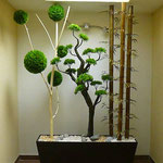 Composicion Arbol artificial con Bonsai Jumbo y Bambues artificales $ 6850.00