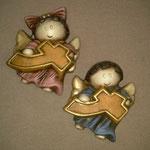 Angel con Cruz Niño y Niña en colores $ 40.00