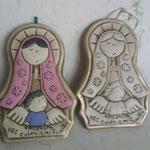 Medallon Virgen Plis Color 40.00 y en viejo Claro $ 28.00