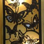 Lampara Mariposas en Acero 1.20 Mts Ancho X 60 cm Altura $ 1650.00
