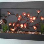 Cuadro Pared 80 X 60 Con Varas Flor de Ceda con Luz y Decorado $ 1250.00