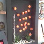 Cuadro Pared 80 X 60 Con Varas Esferas Metalicas con Luz y Decorado $ 1250.00