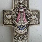 Cruz Virgen Palomas Color $ 65.00 y en Viejo Claro $ 48.00