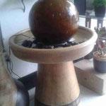 Fuente Barro Esfera pedestal de cono  1Mt. Altura 50 cm Ancho $ 1650.00