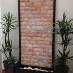 Fuente pared Vertical Mod. Arcoiris 2.10 Mts Altura X 1.00 Mts Ancho Piedra Arcoiris
