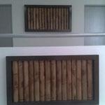 Cuadros de Madera con Bambu