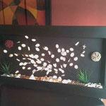 Cuadro Pared 120 X 60 Con Varas Flor tipo concha con Luz y Decorado $ 1.450.00