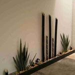 Diseño de Jardineras con Plantas Naturales y Artificiales