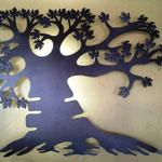 Lampara Árbol de la Vida en Acero 1.10 Mts Ancho X 95 cm Altura $ 1650.00