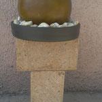 Fuente de Barro Esfera pedestal de Adobe 95 cm. Altura y 50 cm. diametro $ 1.650.00