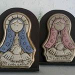 Medallon Virgen Plis con Madera Color 55.00 y en viejo Claro $ 45.00