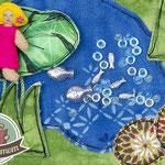Spielbuch Tipps How to make a Quiet book Nähanleitung Pattern Stoffbuch Activtiy Buch Netzstoff Mesh Gaze