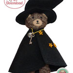 Spiebuch Zauberer Teddy Quiet book Anleitung Filzbuch Nähanleitung Schritt für Schritt Schablonen 1 : 1