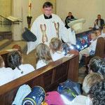 Gottesdienst zum Schulanfang in der Kirche St. Peter u. Paul mit Pfarrer Langendonk