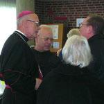 Auf dem Franziskusfest 2009 des Kloster Neviges traf Schulleiter Bruno Lück Nuntius Jean-Claude Périsset