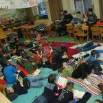 Lesenacht in der Schule