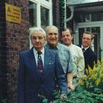 Schulleiter unserer Schule: Eberhard Schulte (+), Werner Hanisch (+), Wolfgang Kaiser und Bruno Lück (von vorne nach hinten)