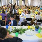 .. mit Schulfrühstück für alle Kinder der Schule im Pastor-Schoppmeier-Haus