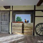 Malerei auf der Innenwand Fachwerk Airbrush