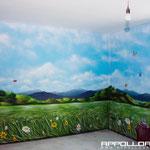 Wandgestaltung im Innenbereich Raumgestaltung Airbrush