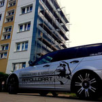 Uckermark Giebelwand bemalt mit Wandbild Graffiti Bild