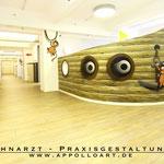 Deckenbilder für Zahnarzt Praxis in Tempelhof Stegltz an Decke und Wände gemalt