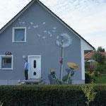 Fassadenkunst auf Fassadenwand