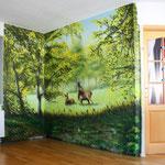Naturgraffiti mit der Montana Dose in Lanke Biesenthal bei eberswalde und Bernau