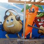 Airbrush im Schulen und Kindergärten auf die Betonwand Neuruppin