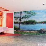 Wandbemalung im Hotel Berlin Brandenburg Reisefeeling im Innenraum
