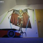 Star wars im Kinderzimmer gemalt 3d Bild fürs Kind