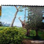 Airbrush kam nicht zum Einsatz um dieses schöne Wandbild Wandmotiv an die fassade zu bringen