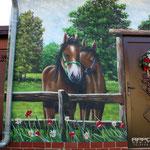Landschaftsbilder mit Pferdemotiven gestaltet