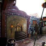 Illusion von mittelalterlicher Gruft und Wand / Stein und Beton Malerei