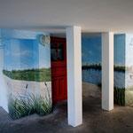 Hausgestaltung innen am Gebäude farbliche Akzente setzen