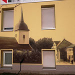 Fassadengestaltung mit Wandbild durch Wandgestaltung der Wandmalerei