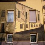 Kunst am Bau gemalt vom Graffitikünstler bei Berlin in Deutschland