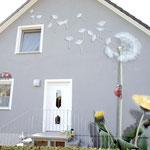Wandmalerei auf Fassade von Eigenheim