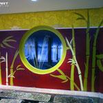 Wandgestaltung und Deckenmalerei im Hotel