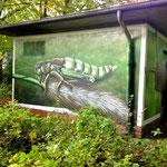 Makro Zeichnung auf Stromkasten anti Graffitischutz imStadbild