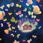 「あなたになれた日」アクリル/木製パネル 2012年