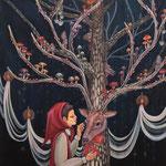 「共生の樹」アクリル/キャンバス 2018年