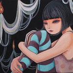 「待ち惚け」アクリル/キャンバス 2018年