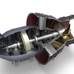 3D-Illustration einer Wasserturbine / ANDRITZ HYDRO