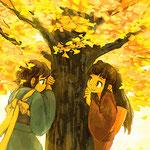 11月 銀杏木とかくれんぼ/2015