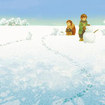 2月 雪の原/2015