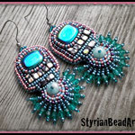 Bead Embroidery Ohrringe Art Deco!